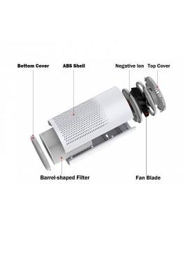 Purificador de aire anti-bacteriano con filtro HEPA y filtro de carbon activo  Alcavida