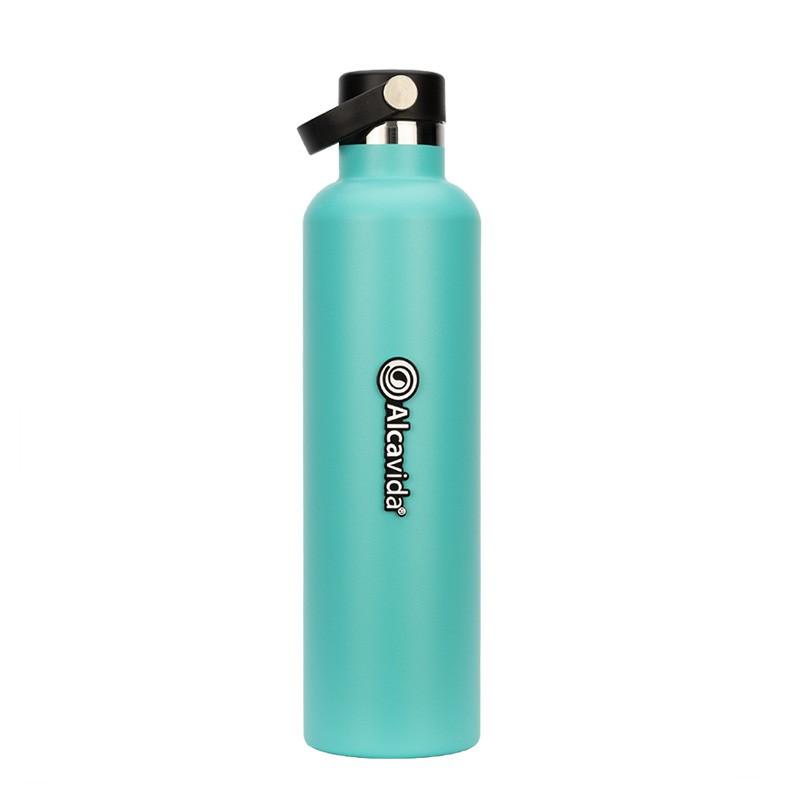 Botella térmica reutilizable de 1 litro alcavida azul celeste