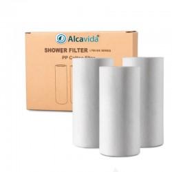 Prefiltro algodón filtro de ducha Alcavida pack de 3 unidades