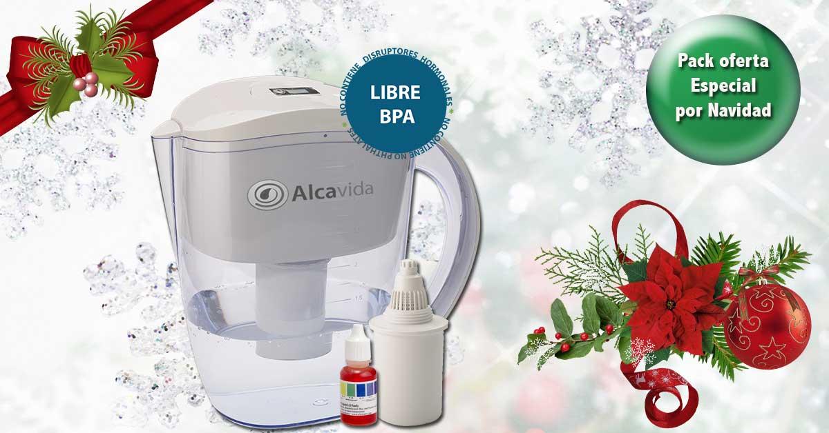 oferta de navidad jarra agua alcalina alcavida